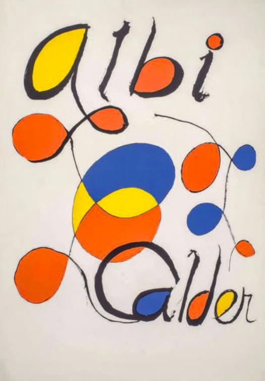 Alexandre Calder albi lithographie  sur vélin  91,5 x 65 cm en vente à la galerie agnes thiebault