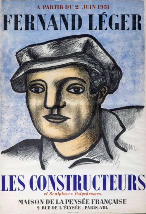 Fernand Leger, affiche lithographique , Mourlot imprimeur ,