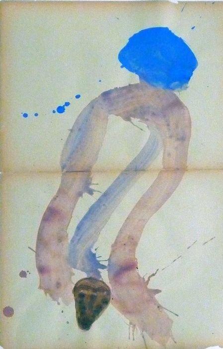 FADIA HADDAD MASQUE 2006, Pigment et Acrylique sur papier 59x40cm
