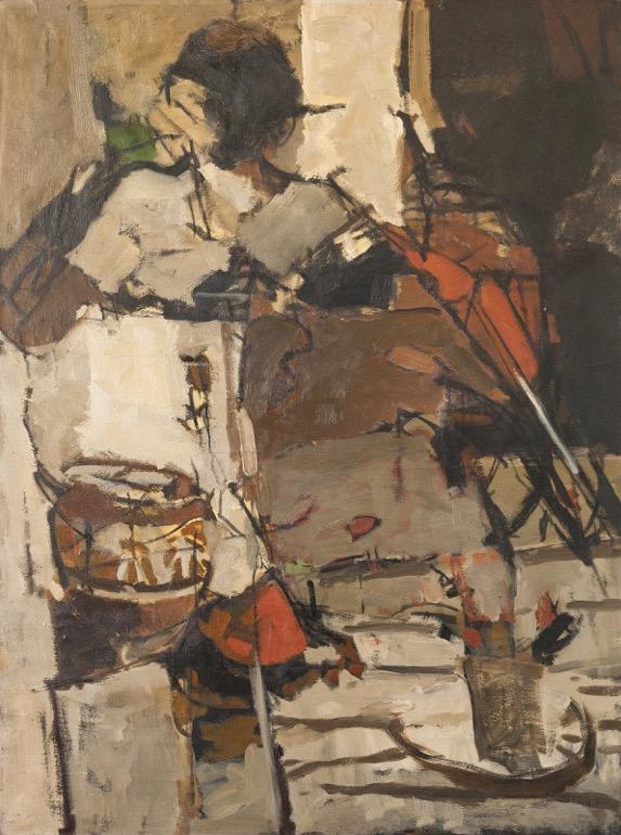 Chittrovanu Mazumdar oil on canvas , price on request