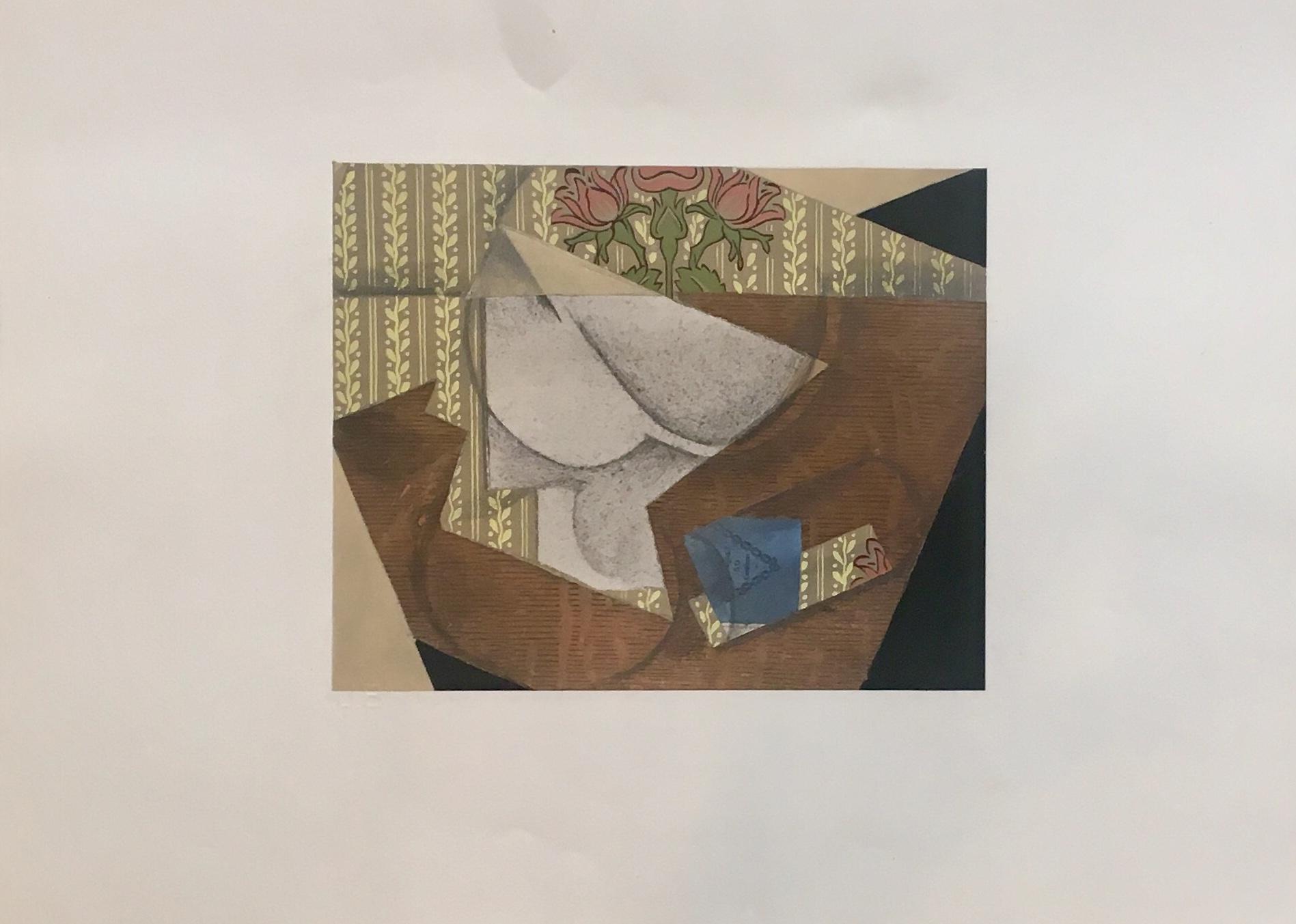 JUAN GRIS Pochoir en couleur , Edition Jeanne Bucher