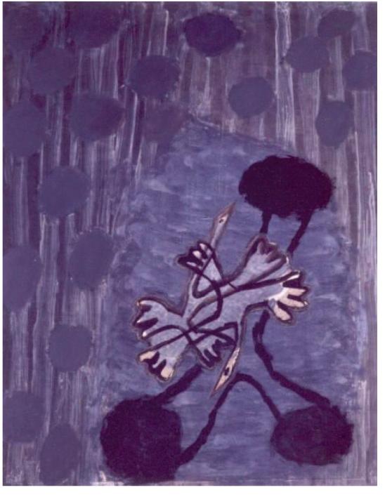 Fadia Haddad technique mixte sur toile