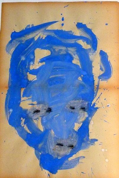 MASQUE 2006, Pigment et Acrylique sur papier 59x40cm