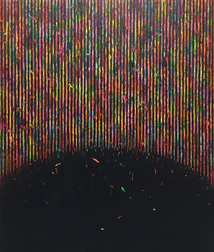 HUR Kyung-ae (1977-)  Composition, NR0515 , 2015 Acrylique sur toile, signée  expose à la galerie agnes thiebault