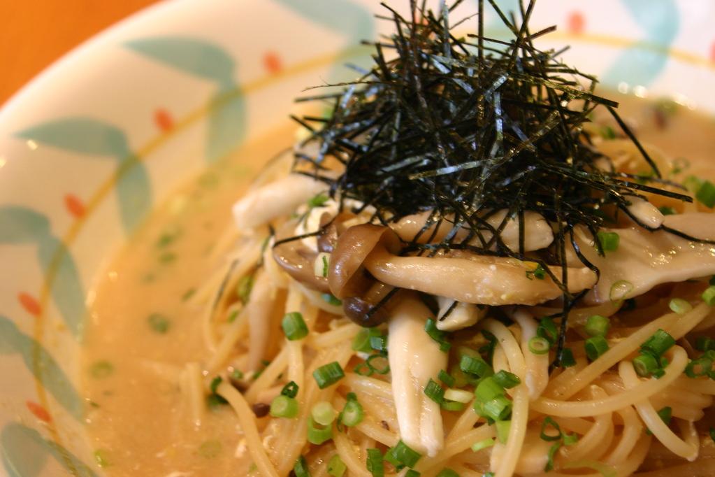 きのこと玉子 和風スープで、優しい味です。