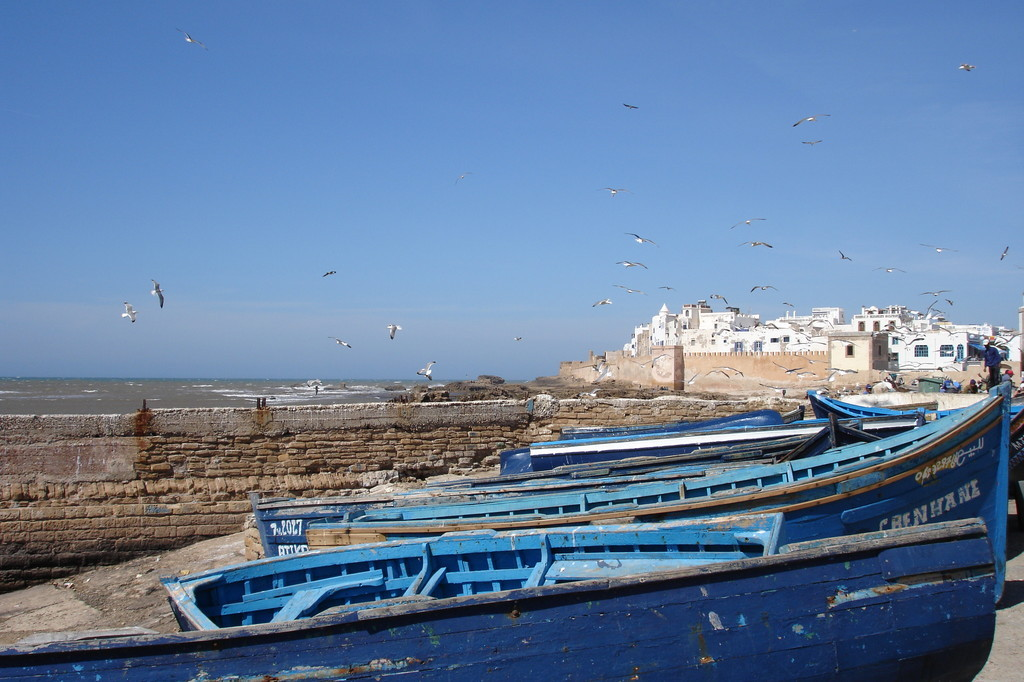 barques de pêche à Essaouira, Maroc
