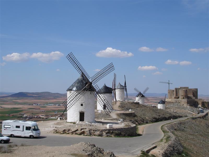 les moulins de Consuegra, Espagne