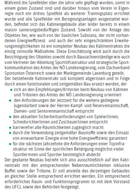 Auszug aus aktueller Gemeindezeitung