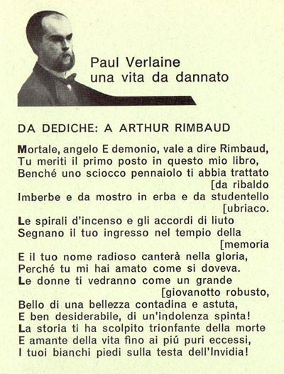 """""""Ad Arthur Rimbaud"""", Paul Verlaine, poesia tratta dalla raccolta """"Dediche"""" (1889)"""