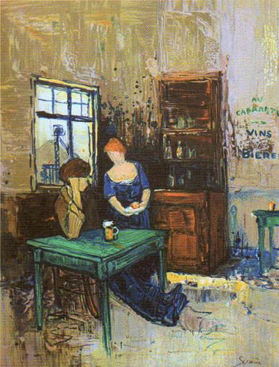 """Le Cabaret-Vert"", del pittore ardennese Jean-Paul Saurin"