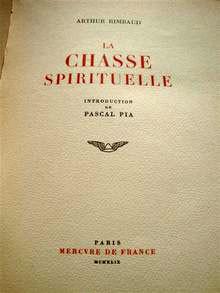 Frontespizio del libro apocrifo di Rimbaud