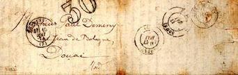 """Busta della """"Lettera del Veggente"""" inviata a Paul Demeny"""