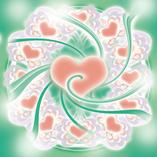 GREEN HEART (グリーンの個性) ハートから愛を受け入れよう。ハートを開ける、無防備でいること。