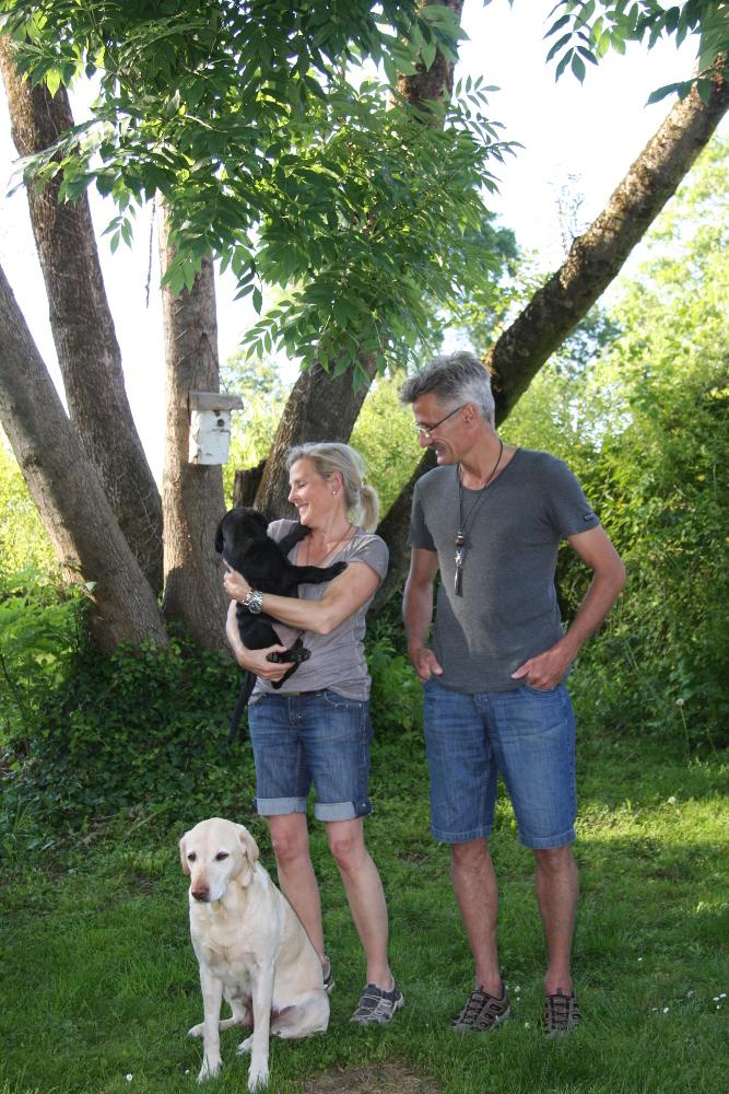 Jussi mit seiner neuen Familie