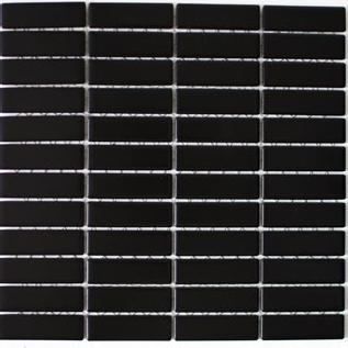 Mosaik schwarz matt 2x7cm