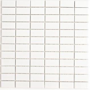 Mosaik 2x5cm weiss matt