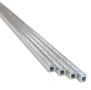 Listelli Aluminium Bordüre Silber