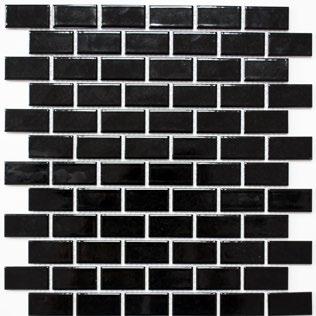 Mosaikfliese schwarz glänzend 2x5cm