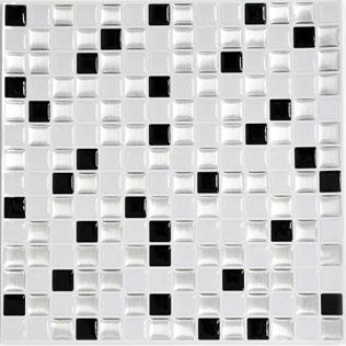 Improve Mosaik 4er Pack Selbstklebendes Vinyl Mix Silber Schwarz