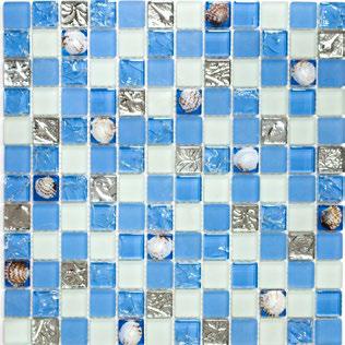 Poolmosaik - Beachmosaik blau