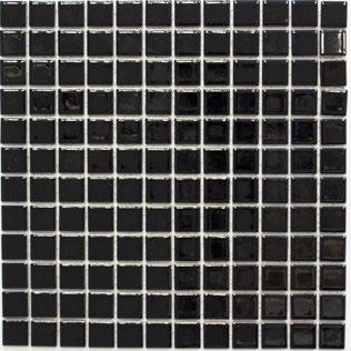 Mosaikfliese schwarz glänzend 2x2cm