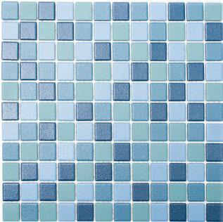 Mosaikfliese rutschhemmend mix blau