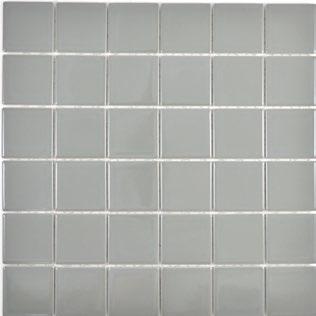 5x5 cm Mosaic metallgrau