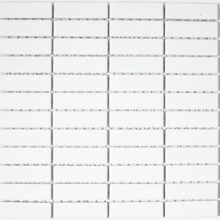 Mosaik 2x7cm weiss glänzend