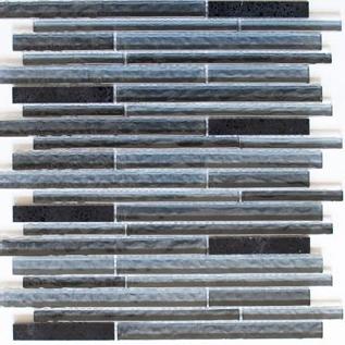 Riemchenmosaik / Stabmosaik schwarz