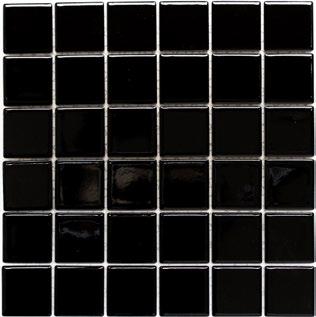 Mosaikfliese schwarz 5x5cm