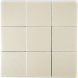 10x10 cm Mosaik matt beige
