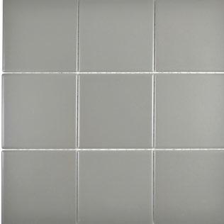 10x10 cm Mosaik matt grau