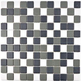 Mosaikfliese rutschhemmend schwarz weiss metall