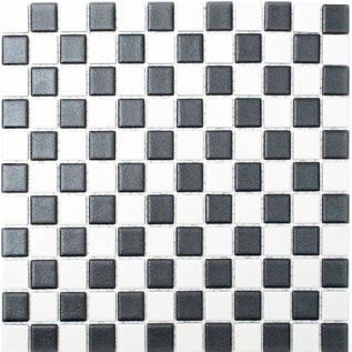 Mosaikfliese rutschhemmend schwarz weiss