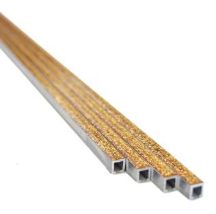 Listelli Aluminium Bordüre Gold