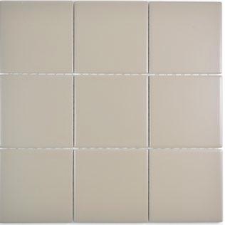 10x10 cm Mosaik matt schlamm