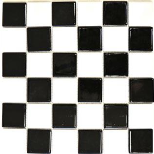 Mosaikfliese schwarz weiss gl 5x5cm