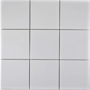 Mosaik 10x10cm weiss glänzend