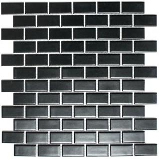 Mosaik schwarz matt im Vebund