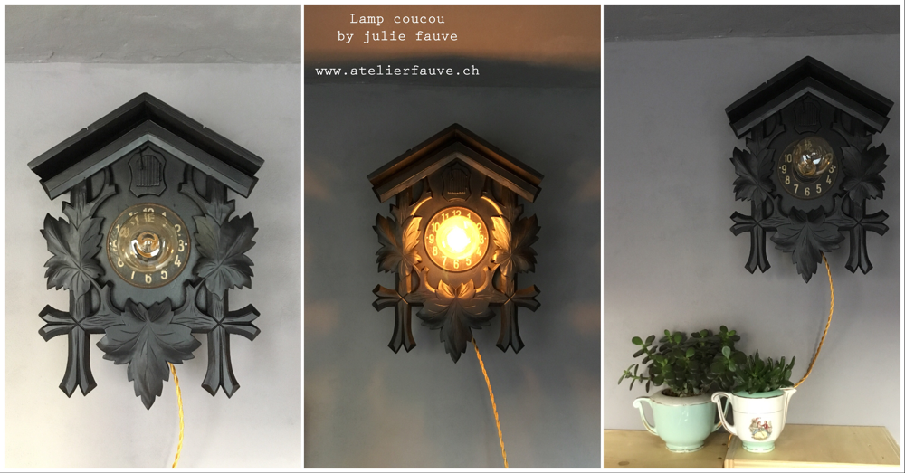 Lampe coucou 100CHF (90 euros)
