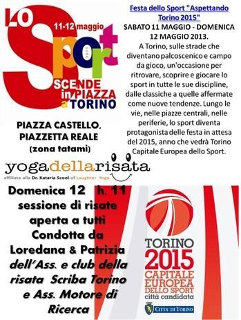 aspettando il 2015 ... si ride!   Loredana Zagami con yoga della risata Torino il metodo del Dott.  Madan Kataria