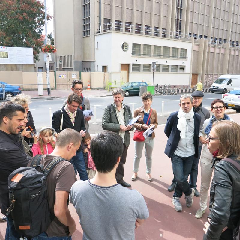 Départ de la balade - Devant la Médiathèque de Montrouge - 32 rue Gabriel Péri