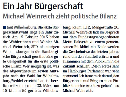 Neuer Ruf Wilhelmsburg 12.03.2016