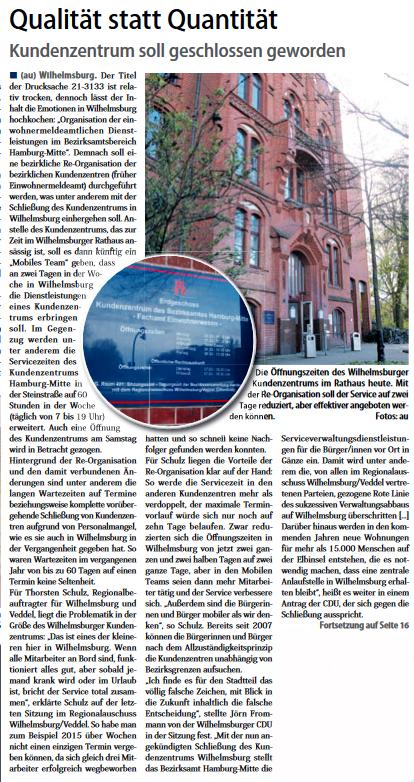 Neuer Ruf Wilhelmsburg vom 22.04.17, Seite 1