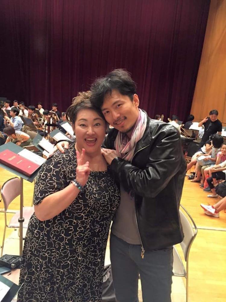 首都オペラ第24回公演 歌劇『トゥーランドット』 オーケストラとのリハーサル ―我が姫君、桑田葉子さんと― (ピン役の古澤利人さん撮影) @かながわアートホール