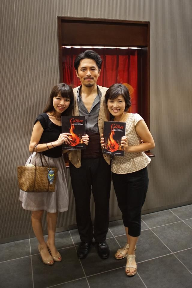 渋谷シティオペラ第十四回公演 歌劇『カルメン』 終演後 応援に来てくれた親友の悠ちゃんと @さくらホール