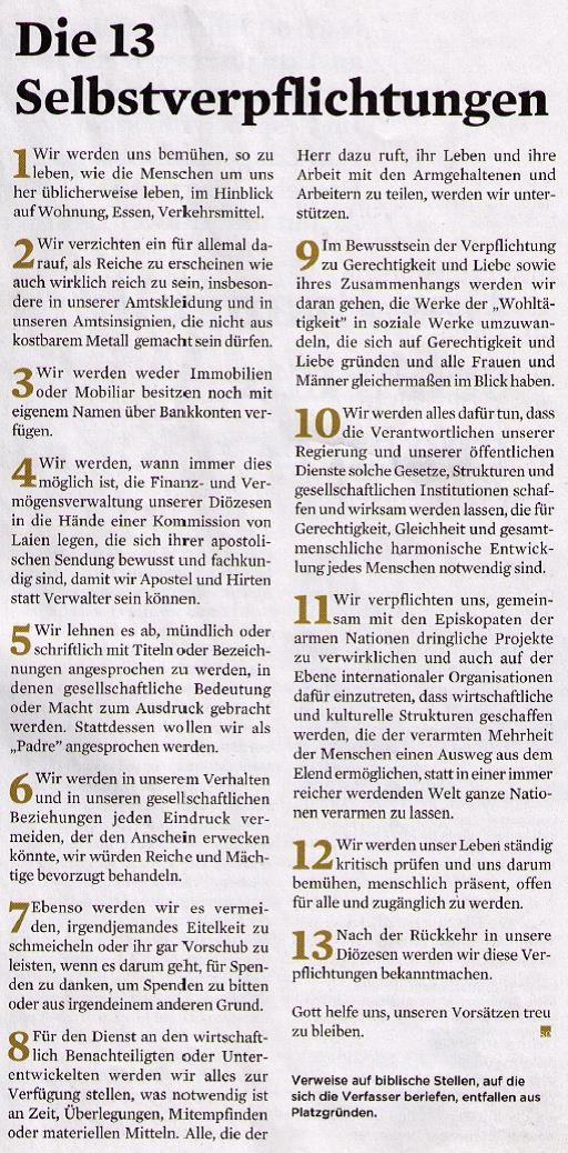 """Der """"Katakombenpakt"""" vom 16. 11. 1965 - - - Entnommen aus: stadt gottes 11/2015, S. 19"""