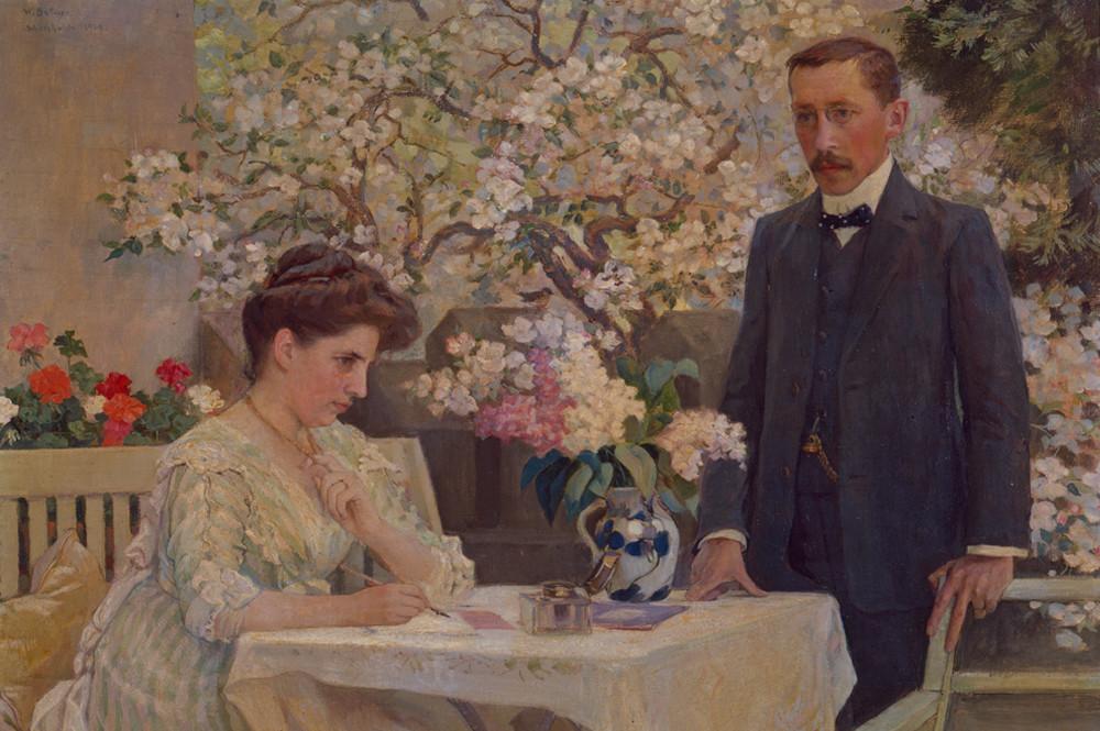 Das Ehepaar Rudolf und Adele von Tavel, datiert 1909 Portrait von Willhelm Balmer