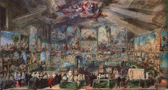 Gabriel de Saint-Aubin, Vue du Salon de 1767.