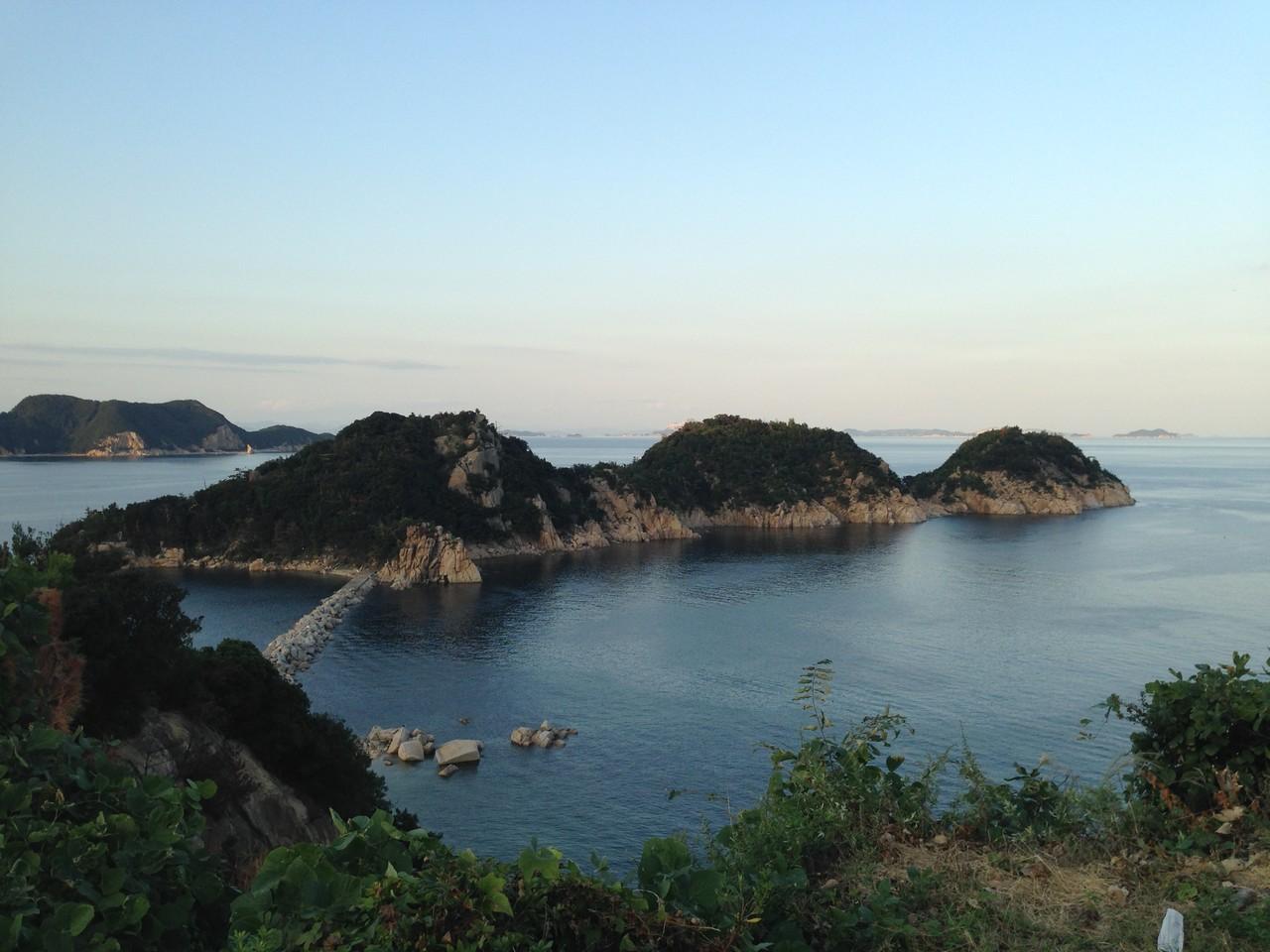 坂手から福田の間にある百景に登録されているとこ。